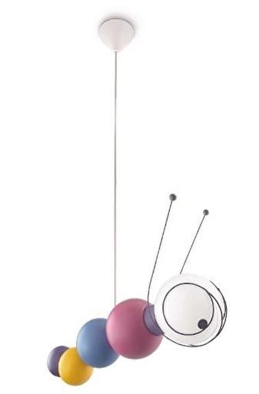 Philips 40093/55/16 Ruby Çocuk Odası Aydınlatma Sarkıt Avize Renkli